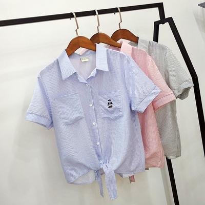 小熊条纹衬衫