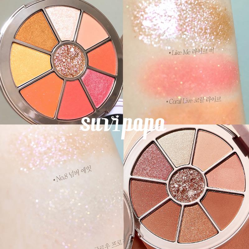 韩国Missha谜尚Glow2 9色圆形多用彩妆盘 眼影高光腮红修容