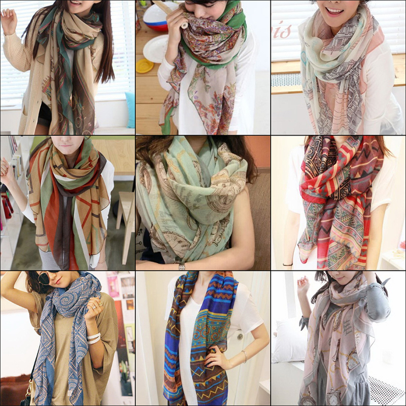 Женские шарфы из хлопка Артикул 44165483985