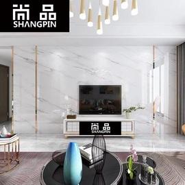 微晶石电视背景墙瓷砖客厅现代简约装饰造型仿大理石纹材欧式边框图片