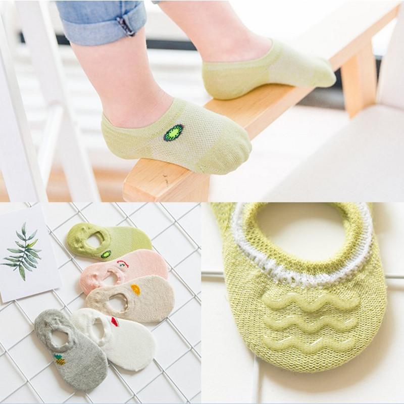 春夏季儿童袜子纯棉宝宝袜1-3-5-7-9岁薄款短袜男女童浅口网眼袜