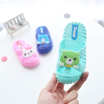 儿童凉拖夏季女童男童小孩浴室内防滑沙滩包头拖鞋中童小童洞洞鞋