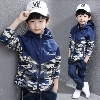 男童秋装外套2019新款韩版中大儿童装春装男孩春秋薄款透气冲锋衣