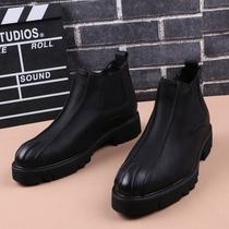 帆布鞋防滑白底韩板高帮鞋百搭潮流布鞋鞋子复古经典款户外板鞋男
