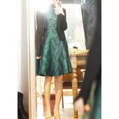 高腰收腰背心连衣裙 优雅气质 QZ193924AG 精致提花 笑涵阁