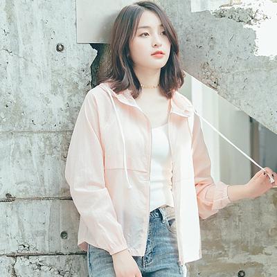 夏季新款外套防晒衣女短款韩版宽松开衫大码学生薄长袖防晒服5