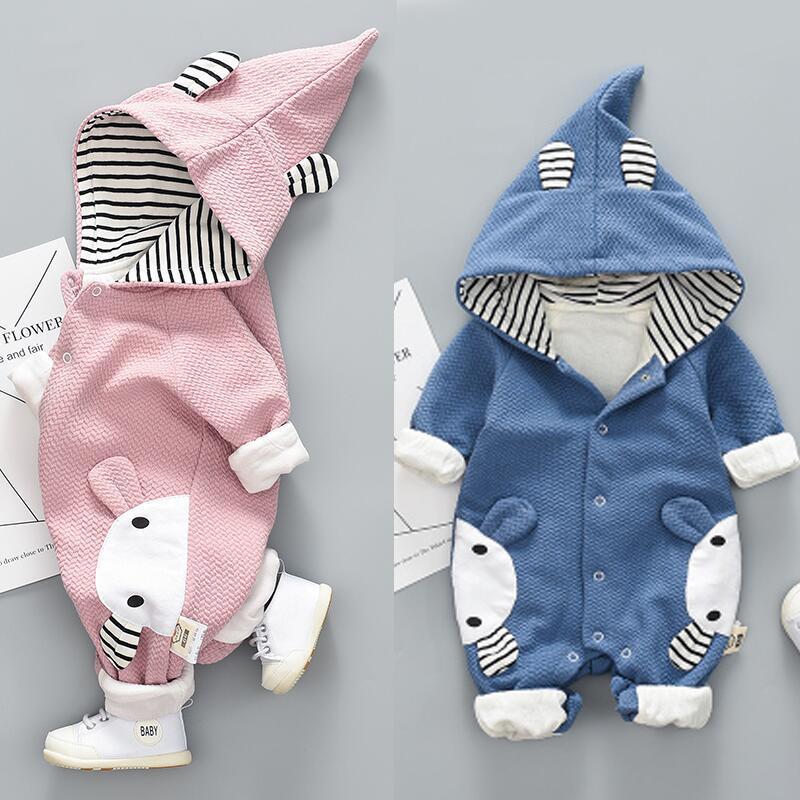 嬰兒小熊連體衣爬服