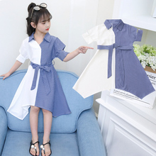 Girls'Skirts in Summer Thin Foreign Style 2019 New Summer Style Summer Dresses Sweet Primary School Dresses for Girls
