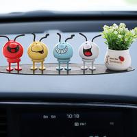 车内饰品摆件创意表情包可爱汽车摆件个性车载摇头公仔装饰用品