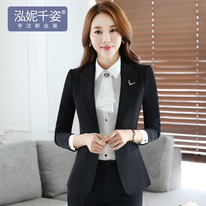 韩版职业装时尚正装套装面试西装工作服3元优惠券