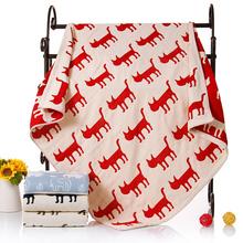 智阳四层纱布儿童被子 全棉正方形浴巾纯棉婴儿抱被毛巾毯午睡毯