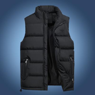 马甲男秋冬韩版保暖羽绒棉青年马夹男士加厚背心外套中年大码坎肩