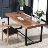 北欧简约现代会议桌实木简易职员办公桌笔记本电脑桌学生家用书桌