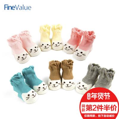 儿童袜子男童女童秋冬婴儿袜松口6-12个月新生儿纯棉宝宝0-1-3岁