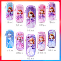 Disney primary school stationery pencil case girl girl princess ice romance multi-function children pencil case male