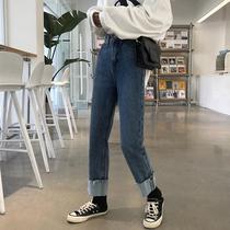 代发中山女牛仔厂家磨破时尚牛仔裤批发夏装新款铅笔牛仔裤2017
