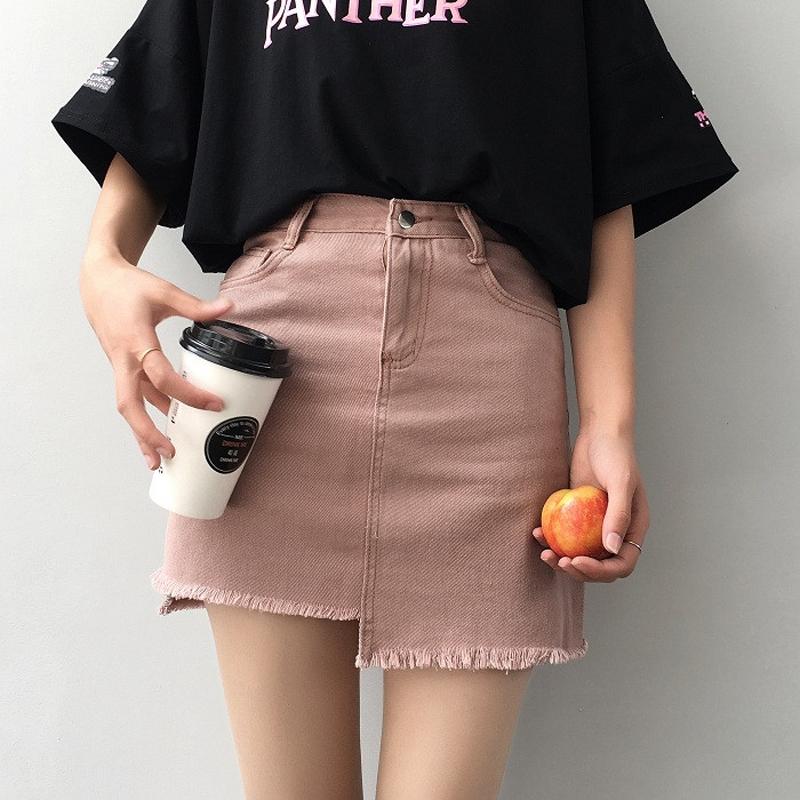 粉红牛仔裙
