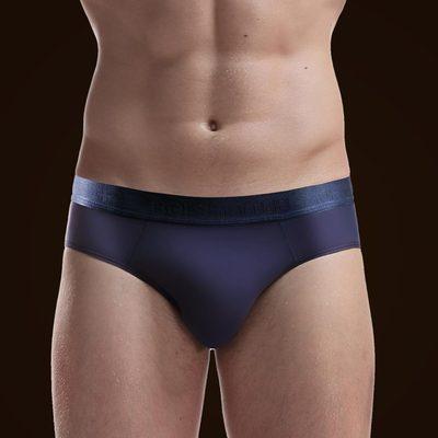 3条男士内裤三角裤冰丝透气超薄款U凸透明三角内裤男潮有加大码