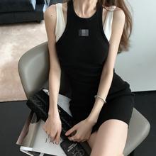 2019新款 修身 假两件连衣裙简约背心 FBB李明萱 连衣裙背心套装图片