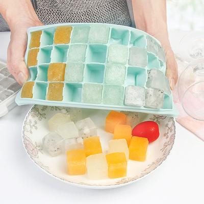 大号硅胶冰块模具 家用带盖子防串味冰盒冰格冰箱冻冰块制冰盒