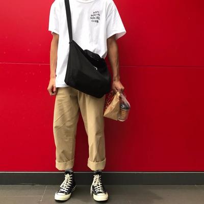 ins港风chic工装裤男潮牌坠感阔腿裤宽松bf风垂感直筒加绒休闲裤