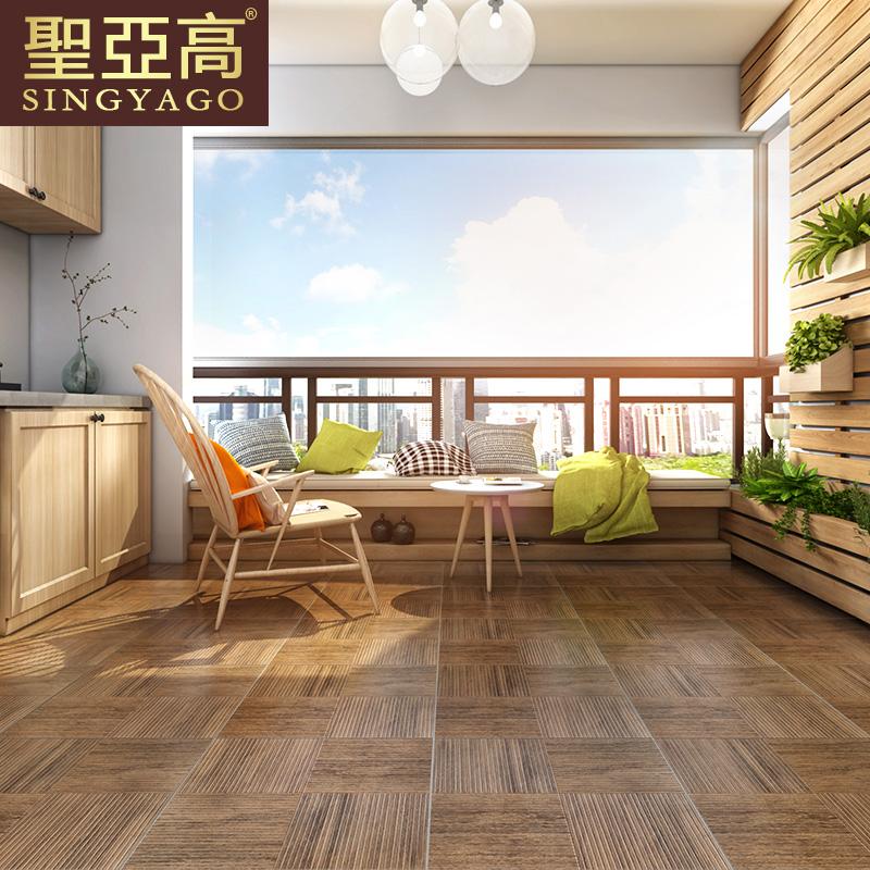 圣亚高美式纵横木纹砖B5001