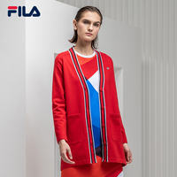 FILA Fila Women Cardigan 2019 Spring New Sports Casual Simple Elegant Contrast Knit Cardigan Women