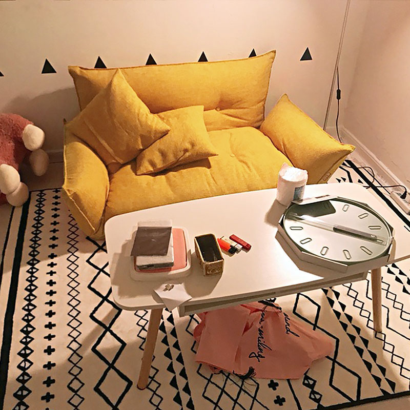 懒人沙发榻榻米小户型卧室布艺小沙发双人日式多功能折叠沙发床