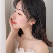 女2019新款 925纯银闪钻千纸鹤耳线设计感气质小众耳环韩版