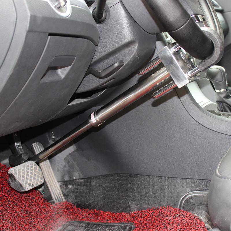 玥玛汽车方向盘锁汽车防盗锁刹车离合踏板钩锁超BC级锁芯750D2027