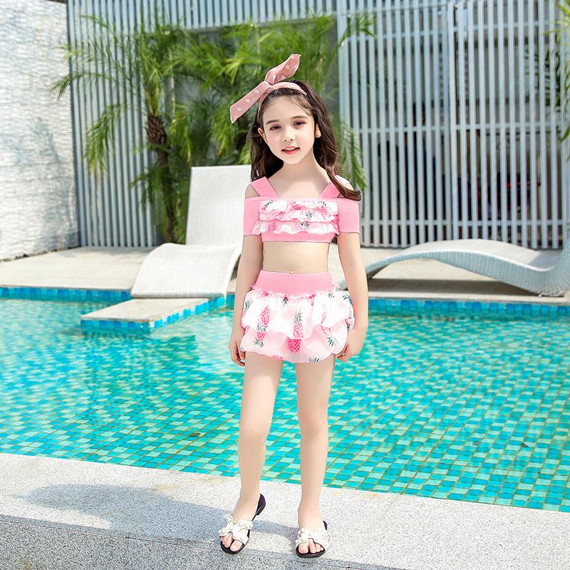 儿童泳衣女分体裙式大中小童女孩公主宝宝泳装女童韩国可爱游泳衣