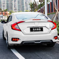 Honda's 10th generation Civic tail modified decoration MC sports car movement free punching new Civic fixed wind big pressure tail