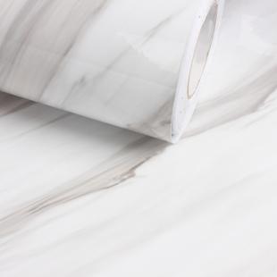 白色自粘大理石纹仿大理石贴纸防水柜子贴纸衣柜橱柜贴纸家具翻新