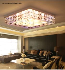 正品吸顶灯具雷士LED节能水晶客厅餐厅灯饰NVX1678水泡玻璃灯