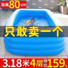 儿童充气游泳池家用大人超大婴儿宝宝洗澡桶加厚大型家庭小孩水池