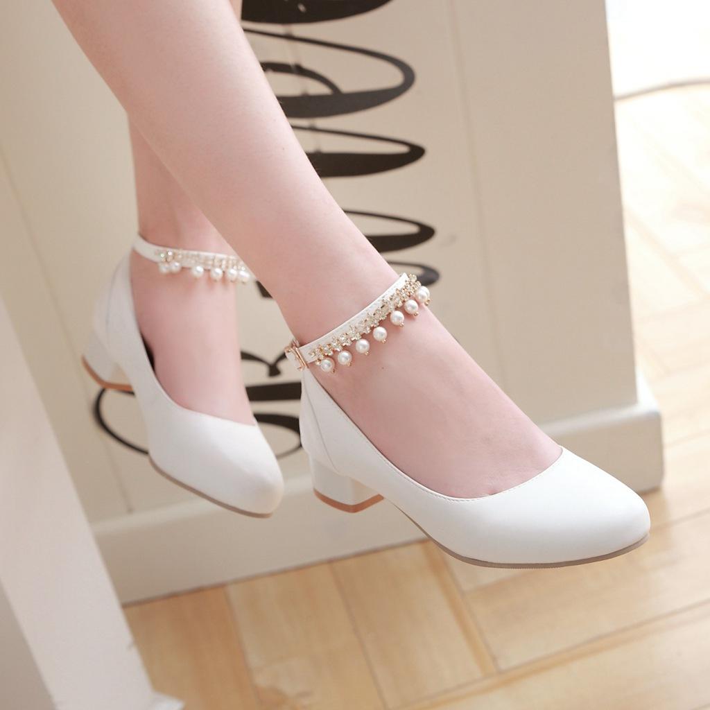 新品串珠单鞋
