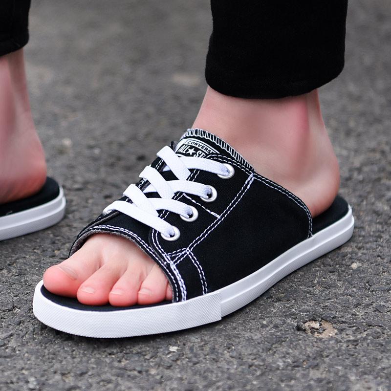 匡威拖鞋男鞋女鞋2019夏季轻便情侣款凉鞋运动休闲帆布拖鞋150247