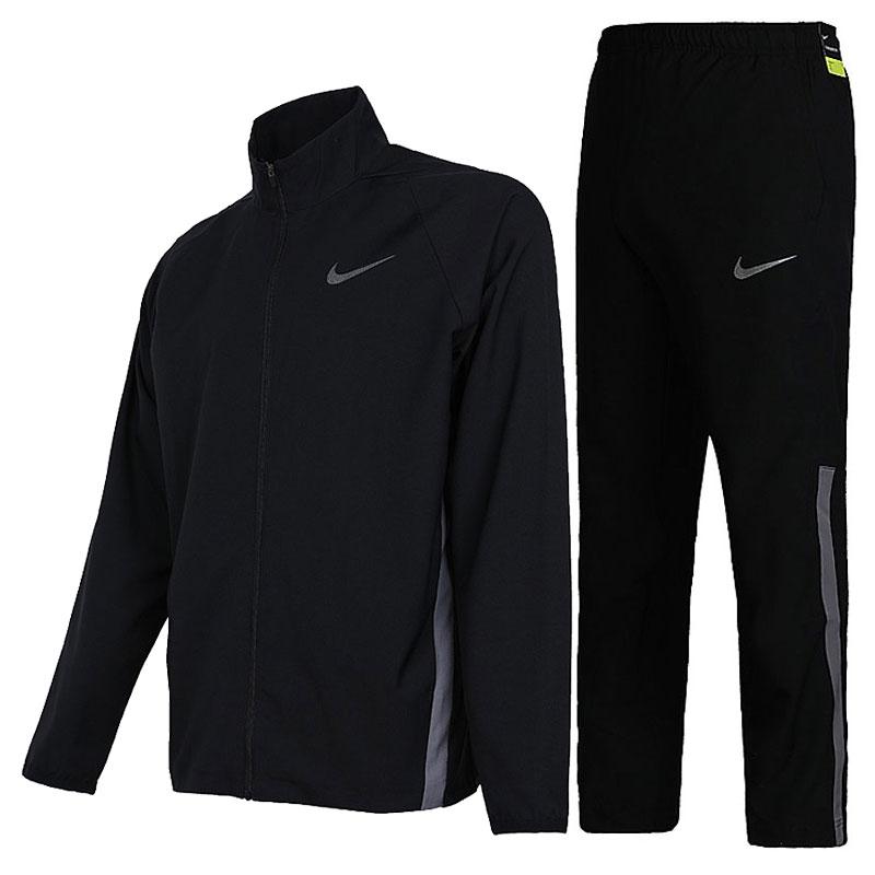 耐克男套装2018秋款跑步梭织运动服立领开衫夹克外套长裤927381