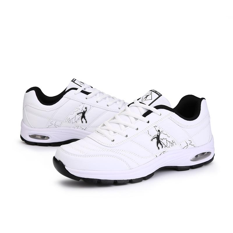 乔丹格兰男鞋运动生活跑步鞋皮面轻便舒适气垫鞋男经典休闲旅游鞋