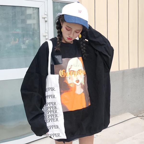 韩国蝙蝠袖上衣