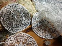 手工网扣装饰垫餐盘垫杯垫蕾丝花边编织布艺抽纱韩式DIY花片贴