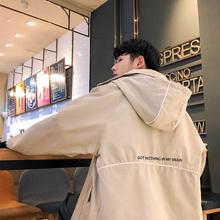 潮流棒球服 风衣韩版 秋冬季加厚连帽外套男女情侣学生夹克长款 开衫图片