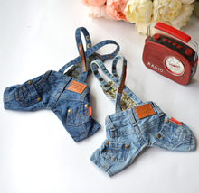 Jeans, Pet Belts, Teddy Dog Clothes, Spring and Autumn Bomebe Bear Clothes, Yorkshire Shorts