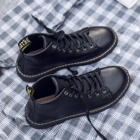 秋季新款马丁靴男英伦韩版潮流百搭中帮鞋子男防水青少年学生皮鞋