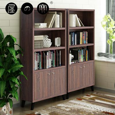 屋之寶書柜書架自由組合格子柜帶門書柜書櫥簡約現代辦公室書柜
