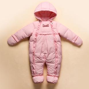 反季特价儿童羽绒服套装正品男童女童宝宝婴儿幼儿连体衣睡袋爬服