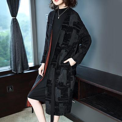 名媛秋装新款女大衣外套中长款风衣韩版时尚气质加厚秋冬女装大衣