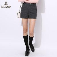 ELAND毛呢休闲短裤女式短裤EETC64T02M
