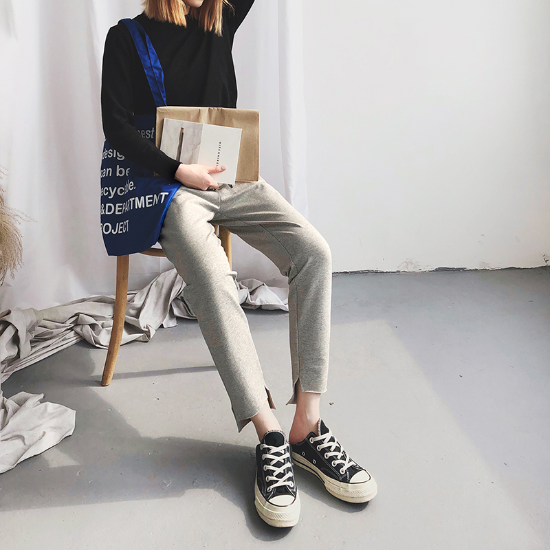 女士修身束脚运动裤