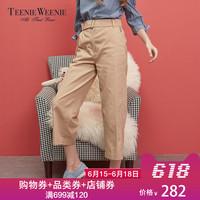 Teenie Weenie小熊秋冬英伦风休闲裤女时尚休闲裤TTTC73801B